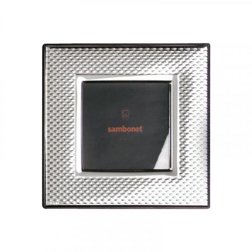 Sambonet,'Silberrahmen' Picture frame 'Dew' silver plated 9 x 9 cm