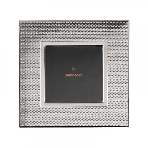 Sambonet,'Silberrahmen' Picture frame 'Dew' silver plated 18 x 18 cm