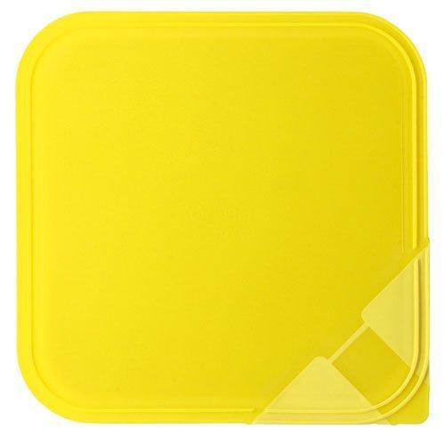 Arzberg,'Küchenfreunde / Form 2006 Frischedosen' Aroma lid for a square bowl yellow 15 x 15 cm
