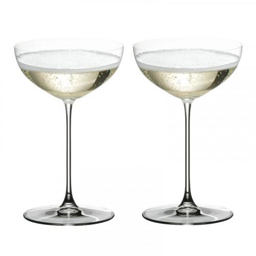 Riedel Gläser,'Veritas' Moscato/Coupe/Martini glass 2 pcs set,h: 170 mm / 240 ml