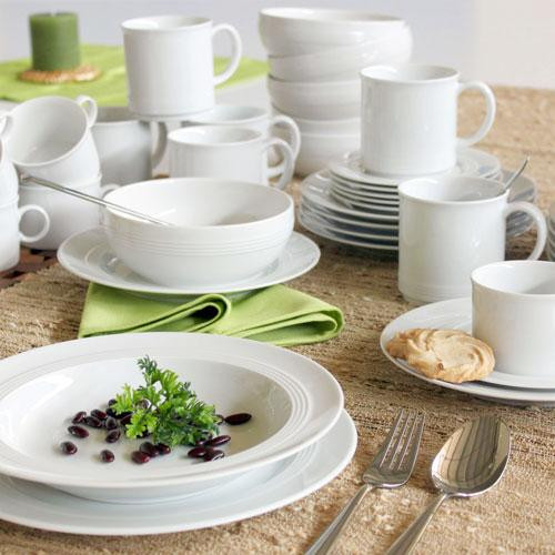 Friesland,'Jeverland white' Combi tableware set 42 pcs