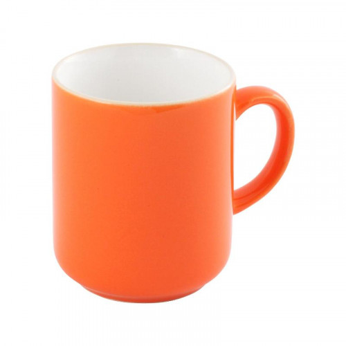 Friesland,'Happymix Orange' Mug with handle white inside,0.28 L