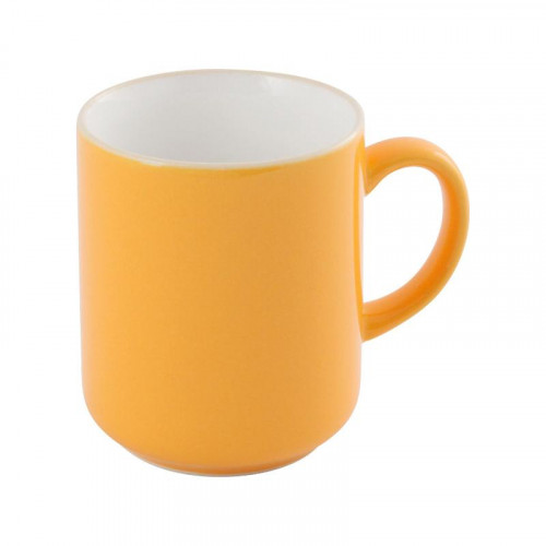 Friesland,'Happymix Safrangelb' Mug with handle white inside,0.28 L
