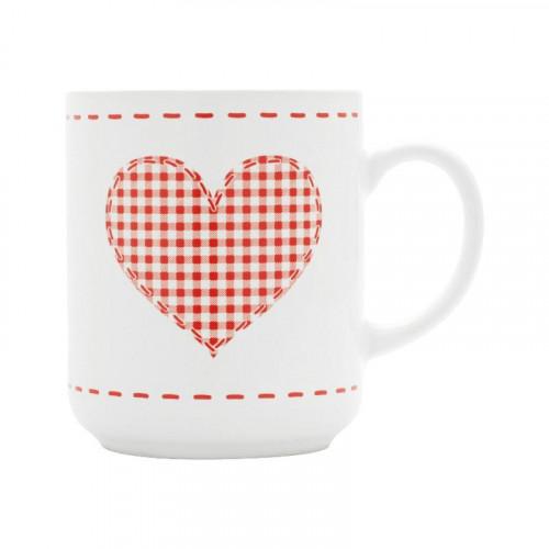 Friesland,'Happymix Weihnachten Weiß' Cup 'Herz',0.25 L