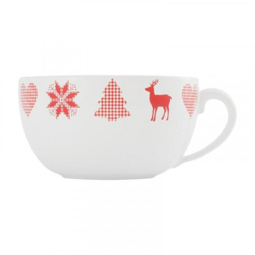 Friesland,'Happymix Weihnachten Weiß' Mug extra large,0.56 L