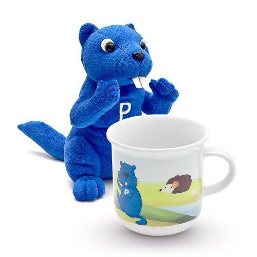 Porzellantreff.de by Arzberg,'Porzell and his Friends' Set for Children Mug + Plush Toy 2 pcs