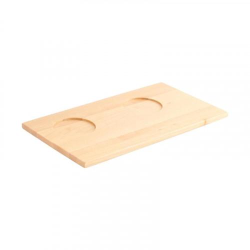 Friesland,'Chai Weiß - Ahorn' Tray wooden for sugar - and milk bowl 13 x 24 cm