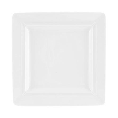 Friesland,'Jeverland white' Breakfast Plate angular 21,5x21,5 cm