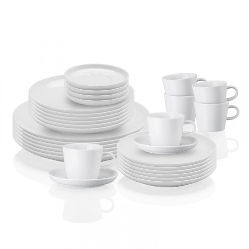 Arzberg Porzellan,'Cucina Basic white' Combined Set 30 pcs
