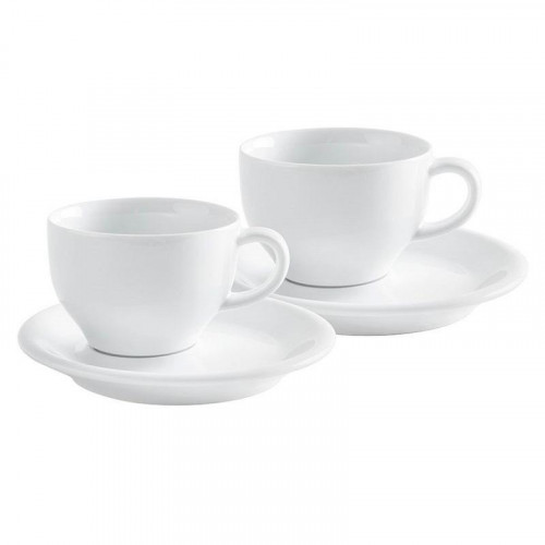 Kahla,'Café Sommelier White' Cappuccino International Cups Set 4 pcs 0,23 L / h: 6,9 cm