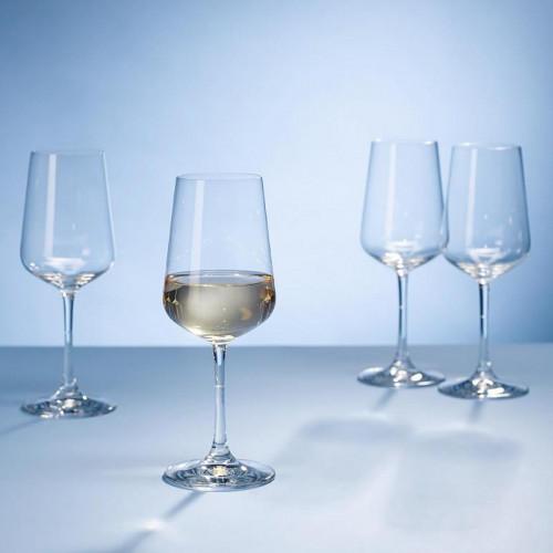 Villeroy & Boch,'Ovid Kristallglas' Drinking glass for white wine 4-piece set 0.38 l / h: 214 mm