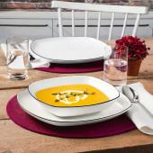 Seltmann Weiden Lido Black Line square 12-piece dinner set