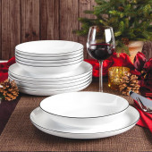 Seltmann Weiden Lido Black Line 12-piece food set