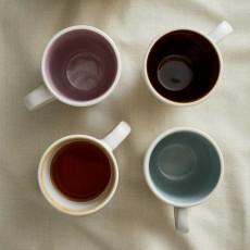 Bitz Gastro matte cream mug with handle set 4-pcs. 0,30 L / h: 10 cm