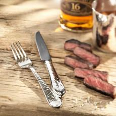 Robbe & Berking Martele - 925 Sterling Silver Steak Knife Frozen Black 225 mm