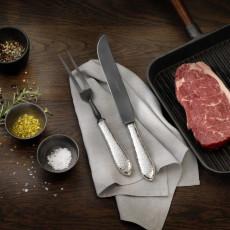 Robbe & Berking Martele - 925 Sterling Silver Carving Fork Frozen Black 250 mm