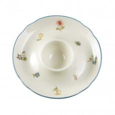 Seltmann Weiden Marie-Luise Streublume egg cup with tray 12,5 cm diameter