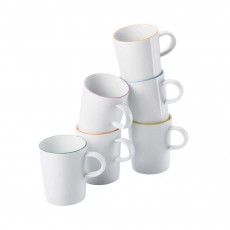 Arzberg Porzellan,'Cucina Colori' Mug Set 6 pcs