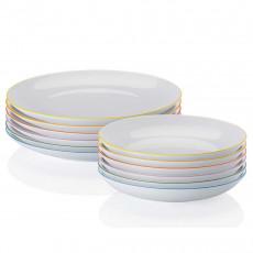 Arzberg Porcelain,'Cucina Colori' Dining Set 12 pcs