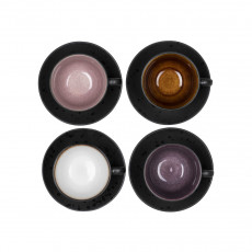 Bitz Gastro black / light cup 0,22 L with saucer 10 cm set 4 pcs.