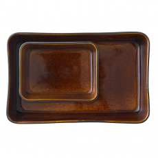 Bitz Gastro black / amber casserole dish set 2 pcs.