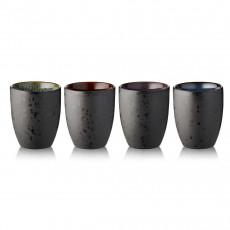 Bitz Gastro black / dark Thermal mug 0,27 L set 4 pcs.