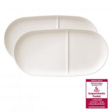 Villeroy & Boch,'Soup Passion' Tray 33x16 cm 2 pcs Set,material: ceramics