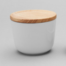 Thomas ONO Weiß / wood jam jar with wooden lid and silicone ring 0,24 L