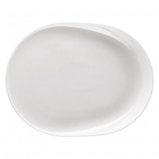 Thomas ONO Weiß BBQ plate oval / grill plate / gourmet plate 34 x 26 cm