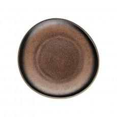 Rosenthal Junto Bronze - Steinzeug Plate flat 16 cm