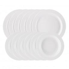 Arzberg Porzellan Form 1382 Weiß Dinnerware Set 12 pcs