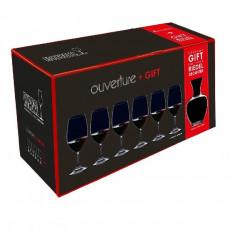 Riedel Glasses Overture Ouverture Glass Set 6x Magnum + Apple Decanter 7 pcs.