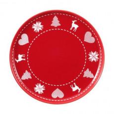 Friesland,'Happymix Christmas Red' Breakfast plate/Jumbo saucer 19 cm