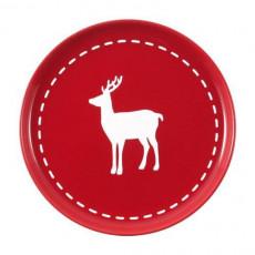 Friesland,'Happymix Christmas Red' Breakfast plate Deer 19 cm