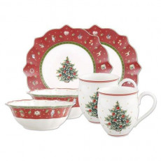 Villeroy & Boch Toy's Delight Breakfast for 2 red Set of 6 pcs