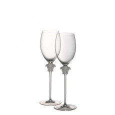 Rosenthal Versace,'Medusa Lumiere' White Wine Set of 2 in Gift Box 0,33 L