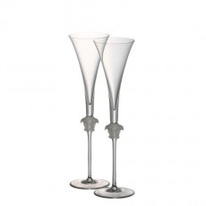 Rosenthal Versace Medusa Lumiere sparkling wine flutes set of 2 in gift box 0,20 L