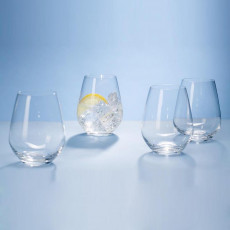 Villeroy & Boch,'Ovid Kristallglas' Water cup 4-piece set 0.42 l / h: 109 mm