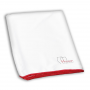 Vinosion.de Glass cleaning cloth made of microfibre with red edges 40x70 cm