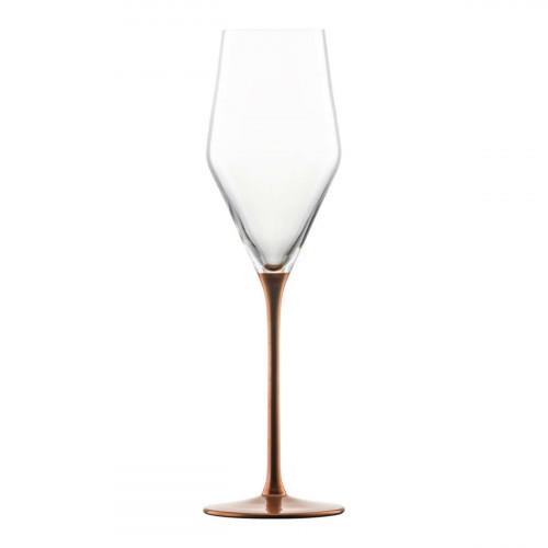 Eisch Kaya Kupfer Champagnerglas mit Moussierpunkt h: 246 mm / 260 ml