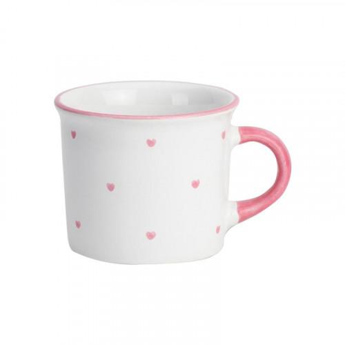 Gmundner Keramik,'Herzerl Rosa' Чашка Häferl для кофе,глазурь 0.24 л