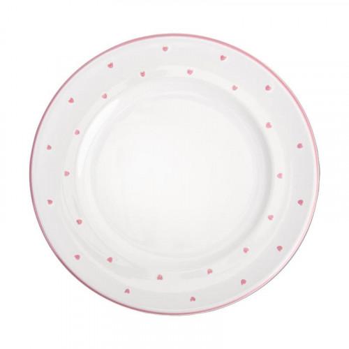 Gmundner Keramik,'Herzerl Rosa' Тарелка десертная Gourmet 22 см