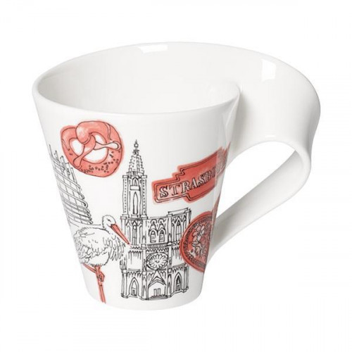 Villeroy & Boch,'New Wave Caffè Cities of the World - Straßbourg' Кружка с ручкой,0.35 л