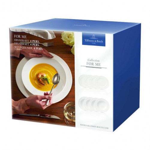 Villeroy & Boch For Me weiss Speise-Set 4 Personen 8-tlg.
