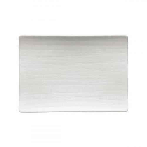 Rosenthal Mesh weiss Platte flach 18x13 cm