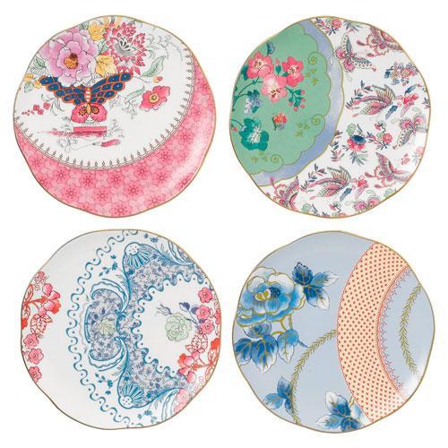Wedgwood,'Butterfly Bloom' Тарелки десертные,набор из 4 предм.,20 см
