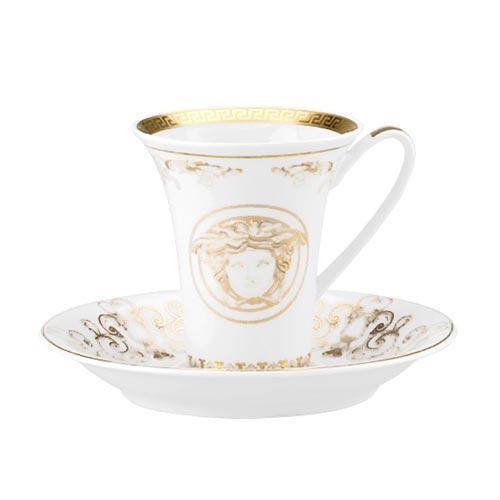 Rosenthal Versace,'Medusa Gala Gold' Чашка для эспрессо / мокка с блюдцем,0.09 л