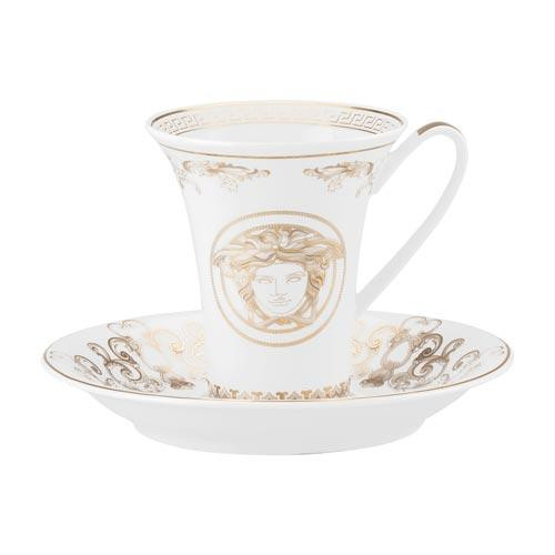 Rosenthal Versace 'Medusa Gala' Чашка для эспрессо / мокка с блюдцем,0.09 л