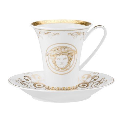 Rosenthal Versace 'Medusa Gala Gold' Чашка кофейная с блюдцем,0.18 л