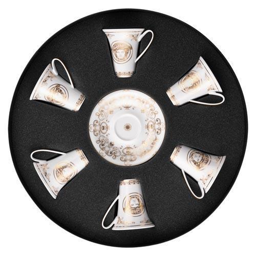 Rosenthal Versace,'Medusa Gala Gold' Набор эспрессо/ мокка чашек,из 6 предм.,0.09 л
